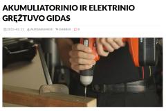 Akumuliatorinio ir elektrinio gręžtuvo gidas
