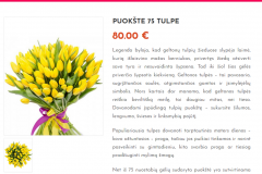 Puokštė 75 tulpės - Graziosgeles.lt