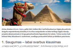 Kelionės į Egiptą: 7 svarbūs patarimai