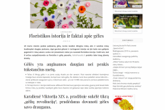 Floristikos istorija ir faktai apie gėles
