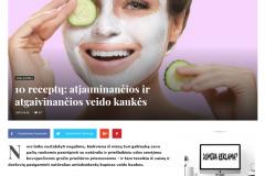 10 receptų: atjauninančios ir atgaivinančios veido kaukės