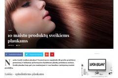 10 maisto produktų sveikiems plaukams