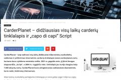 """CarderPlanet - didžiausias visų laikų carderių tinklalapis ir """"capo di capi"""" Script - KiberErdve.lt"""