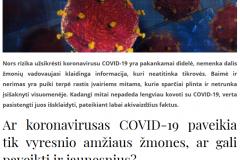 Mitų apie koronavirusą COVID-19 paneigimas