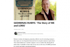 "GEDIMINAS RUIBYS: ""The Story of ME and LORIS"""