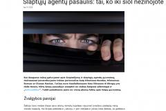 Slaptųjų agentų pasaulis: tai, ko iki šiol nežinojote
