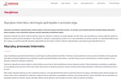 Skyrybos internetu: skirtingos aplinkybės ir proceso eiga