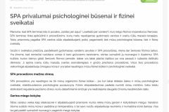 SPA privalumai psichologinei būsenai ir fizinei sveikatai